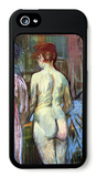 Two Girls from Behind iPhone 5 Case by Henri de Toulouse-Lautrec
