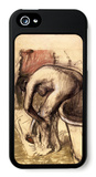 Female on the Tub Edge, Her Legs Drying 1 iPhone 5 Case by Edgar Degas