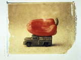 Vegetable  And  Truck Photographic Print by Green Light Collection