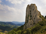 Peak in the Dentelles, Near Gigondas, Provence, France Photographic Print by Green Light Collection