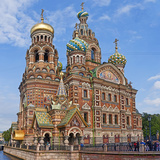 Architectural Details of a Church, Church of the Savior on Blood, St. Petersburg, Russia Photographic Print by Green Light Collection