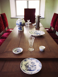 Dining Room at a Museum, Peter the Great House Museum, Kadriorg, Tallinn, Estonia Photographic Print by Green Light Collection
