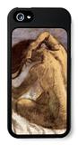 Female Combing Hair iPhone 5 Case by Edgar Degas