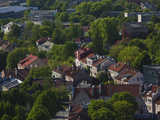 Elevated City View From the K Building, Klaipeda, Lithuania Photographic Print by Green Light Collection