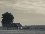 Farmhouse in a Field, Svente, Daugava River Valley, Latgale Region, Riga, Latvia Photographic Print by Green Light Collection