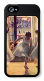 Three Dancers in a Practice Room iPhone 5 Case by Edgar Degas