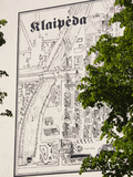 Town Map Mural on a Wall, Tiltu Street, Klaipeda, Lithuania Photographic Print by Green Light Collection