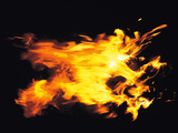 Flames of Fire, Studio Shot Photographic Print by Green Light Collection