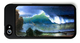 The Coast of the Turquoise Sea iPhone 5 Case by Albert Bierstadt