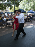 Tango Dancers Dancing for Tips at a Sidewalk Cafe Photographic Print by Green Light Collection