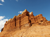 Rock Formations on a Cliff, Capitol Reef National Park, Utah, USA Photographic Print by Green Light Collection