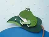 Illustration Frog Photographic Print by Green Light Collection