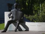 Statue of a Musician Raimond Valgre at a Monument, Kuursaal Concert Hall, Parnu, Estonia Photographic Print by Green Light Collection