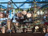 Copper Kitchenware for Sale at the Sunday Market Photographic Print by Green Light Collection