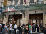Tourists Waiting To Enter Cafe Tortoni, Avenida De Mayo, Buenos Aires, Argentina Photographic Print by Green Light Collection
