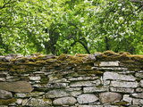 Stone Wall at Mihkli Farm Museum, Viki, Saaremaa Island, Estonia Photographic Print by Green Light Collection