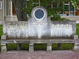 Musical Bench Dedicated To Russian Composer Tchaikovsky, Haapsalu, Estonia Photographic Print by Green Light Collection