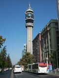 Communication Tower on Liber Bernardo O'Higgins, Santiago, Chile Photographic Print by Green Light Collection