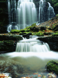Waterfall Yorkshire England Photographic Print by Green Light Collection