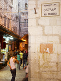 People in a Street, Via Dolorosa, Jerusalem, Israel Photographic Print by Green Light Collection