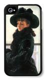 Portrait of Kathleen Newton iPhone 4/4S Case by James Tissot