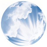Globe Reflecting Clouds, Sky And Sunbeams Photographic Print by Green Light Collection