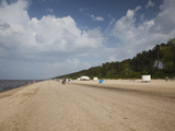 Clouds Over the Beach, Dzintari Beach, Dzintari, Jurmala, Latvia Photographic Print by Green Light Collection