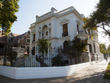 Exterior of Early 20th Century Home, Palacio Mac-Clure, Ejercito Liber, Santiago, Chile Photographic Print by Green Light Collection