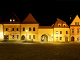 Street Scene at Night, Bardejov, Slovakia Photographic Print by Green Light Collection