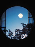 View of Full Moon in Sky Photographic Print by Green Light Collection