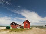 Town Harbor Buildings, Orissaare, Saaremaa Island, Estonia Photographic Print by Green Light Collection