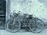 Two Bicycles Luxor Egypt Photographic Print by Green Light Collection