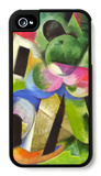 House with Trees iPhone 4/4S Case by Franz Marc