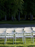 Party Chairs on Lawn, Parnu, Estonia Photographic Print by Green Light Collection