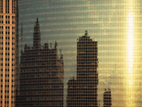 Reflections on City Building Chicago IL USA Photographic Print by Green Light Collection