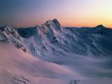 Tasman Glacier Mount Cook National Park New Zealand Fotografisk tryk af Green Light Collection