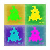 Dallas Pop Art Map 2 Prints by  NaxArt