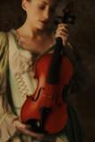 Violinist In Baroque Dress Photographic Print by Ricardo Demurez