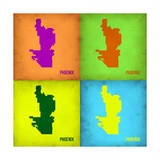 Phoenix Pop Art Map 1 Posters by  NaxArt