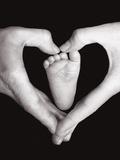 Heart, Hands And Foot Fotografie-Druck von Dee Smart