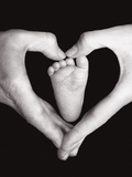 Heart, Hands And Foot Photographic Print by Dee Smart