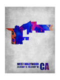 West Hollywood California Prints by  NaxArt