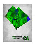 Santa Monica California Poster by  NaxArt