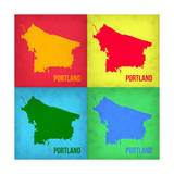Portland Pop Art Map 1 Posters by  NaxArt