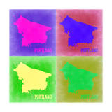 Portland Pop Art Map 2 Prints by  NaxArt