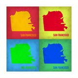 San Francisco Pop Art Map 1 Print by  NaxArt