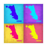 Chicago Pop Art Map 1 Posters by  NaxArt