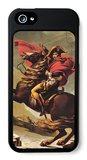 Napoleon Crossing the Alps iPhone 5 Case by Jacques-Louis David