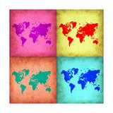 Pop Art World Map 1 Prints by  NaxArt