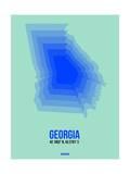 Georgia Radiant Map 2 Prints by  NaxArt